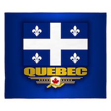 Quebec Flag King Duvet