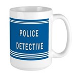 Police Detective Blues Large Mug