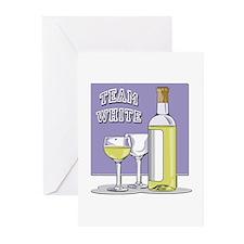 Team White Wine Greeting Cards (Pk of 10)