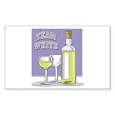 Team White Wine Rectangle Sticker