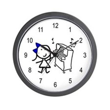 Girl & Piano Wall Clock