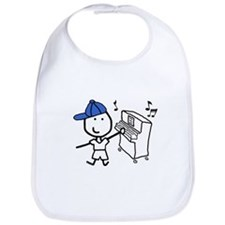 Boy & Piano Bib