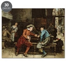 Two Men Talking in a Tavern (oil on canva - Puzzle