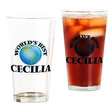 World's Best Cecilia Drinking Glass