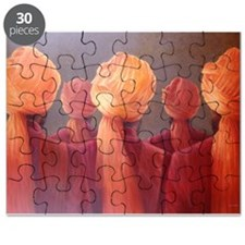 All Five Heads (oil on canvas) - Puzzle