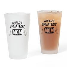World's greatest mom. Drinking Glass