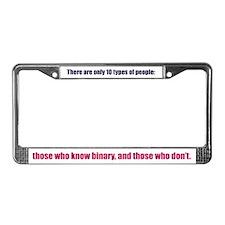 Binary License Plate Frame