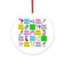 TOP HAIR STYLIST Ornament (Round)