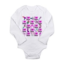 LOVE HAIR Long Sleeve Infant Bodysuit