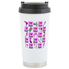 LOVE HAIR Travel Coffee Mug