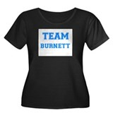 TEAM BURNETT Women's Plus Size Scoop Neck Dark T-S