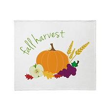 Fall Harvest Throw Blanket