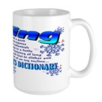 Skier's Dictionary Large Mug
