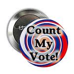 Patriotic Count My Vote Button