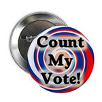 100 Bulk Rate Count My Vote Buttons