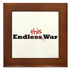 End This War Framed Tile