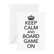 Keep Calm and Boardgame on Greeting Cards