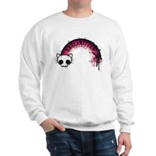 Skelekitten Rainbow Sweatshirt