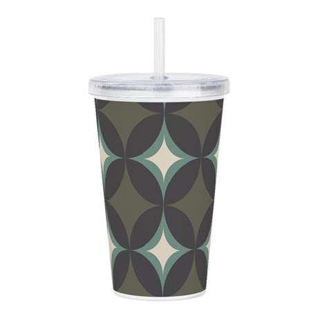 Retro 60's Diamond Geo Acrylic Double-wall Tumbler