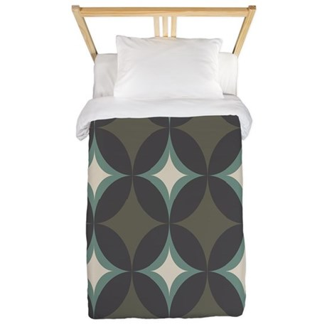 Retro 60's Diamond Geometric Twin Duvet