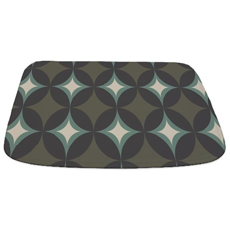 Retro 60's Diamond Geometric Bathmat