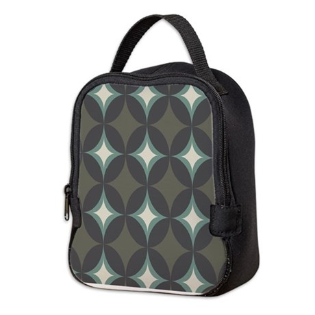 Retro 60's Diamond Geometric Neoprene Lunch Bag