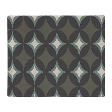Retro 60's Diamond Geometric Throw Blanket