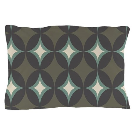 Retro 60's Diamond Geometric Pillow Case