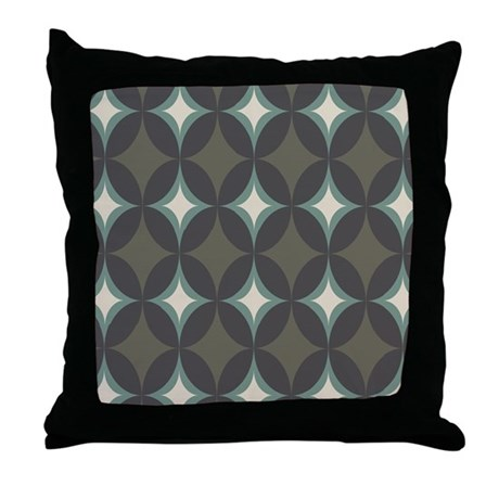 Retro 60's Diamond Geometric Throw Pillow