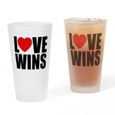 LOVE WINS! Drinking Glass