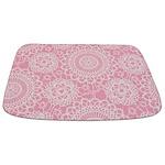 Pink Lace Doily Bathmat