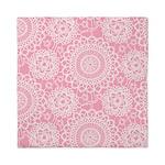 Pink Lace Doily Queen Duvet