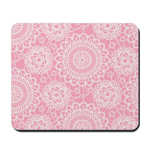 Pink Lace Doily Mousepad