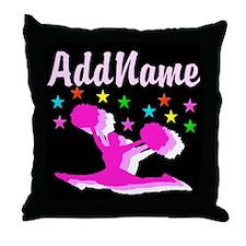 PINK CHEERLEADER Throw Pillow