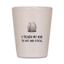 Hit And Steal Baseball Shot Glass