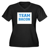 TEAM BACON Women's Plus Size V-Neck Dark T-Shirt