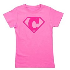 Super Hero Letter C - Girl's Tee