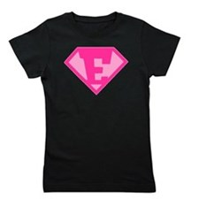 Super Hero Letter E - Girl's Tee
