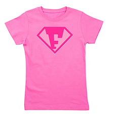 Super Hero Letter F - Girl's Tee