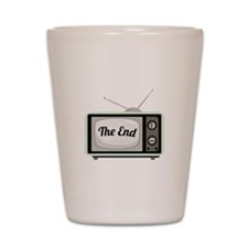 The End TV Shot Glass