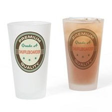 Shuffleboarder Vintage Drinking Glass