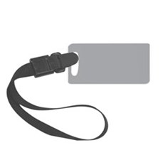 Light Gray Solid Color Luggage Tag