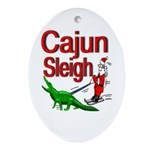 Cajun Zydeco Oval Ornament