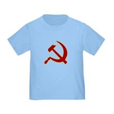 Hammer and Sickle Toddler Baby Blue T-Shirt
