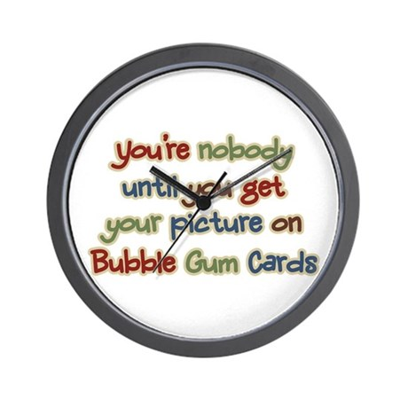 Baseball Bubble Gum Card Collector Wall Clock
