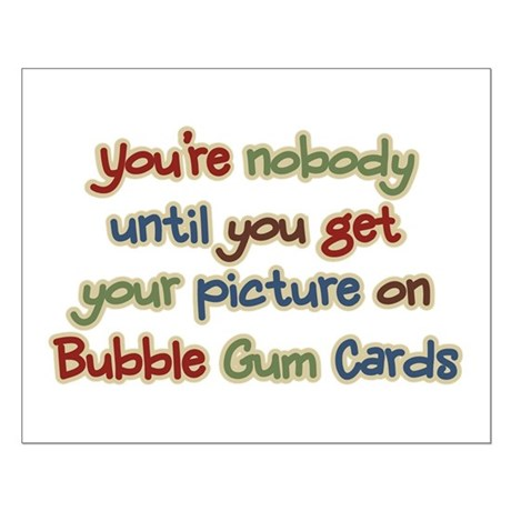Baseball Bubble Gum Card Collector Small Poster