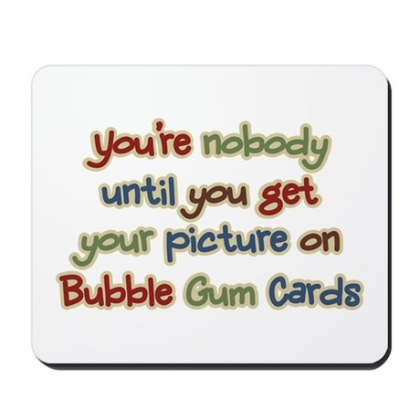 Baseball Bubble Gum Card Collector Mousepad