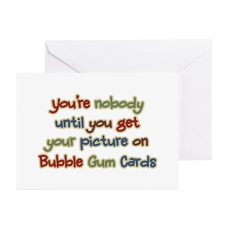 Baseball Bubble Gum Card Collector Greeting Cards