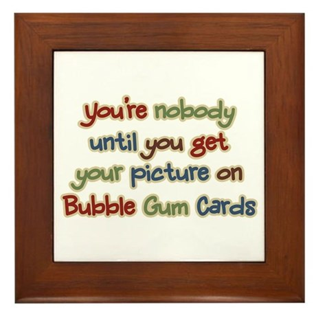 Baseball Bubble Gum Card Collector Framed Tile