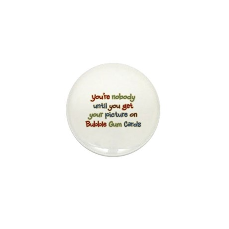 Baseball Bubble Gum Card Collector Mini Button (10